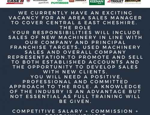 Job Vacancy ~ Area Sales Manager to cover Central & East Cheshire