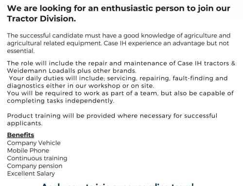 New Job Opportunities